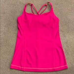 Lululemon hot pink top